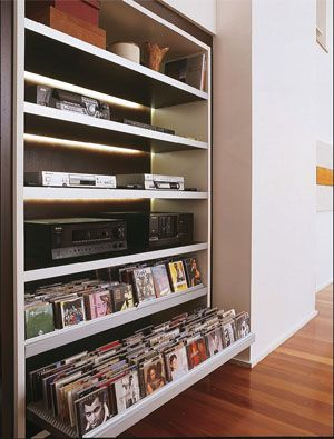 This website gives lots of different places you can store CDs that you wouldn't normally think of!