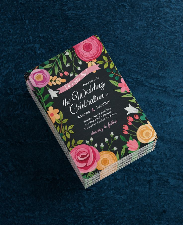 13 best wedding invitations images on pinterest wedding stationery design your floral wedding invitations in seconds stopboris Gallery