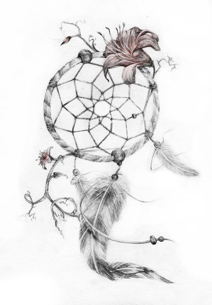 [preview] dreamcatcher tattoo by GenevieveViel.deviantart.com on @DeviantArt
