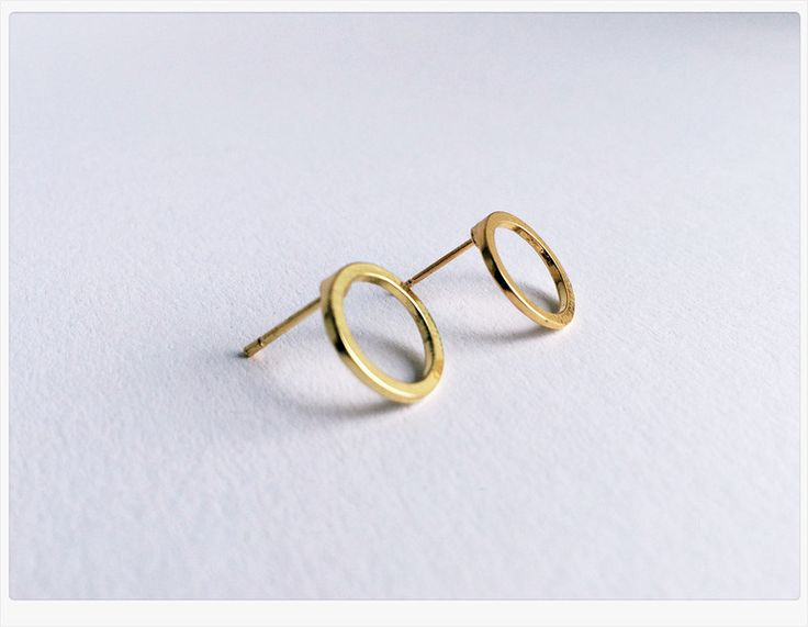 Ohrringe - Kreis Ohrring GOLD ❤️ Circle of Life, Dot - ein Designerstück von Lillyville bei DaWanda