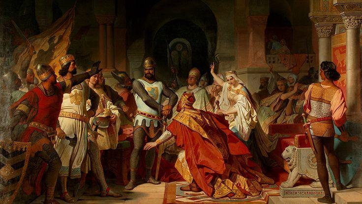 Demütigung Kaiser Friedrich Barbarossas durch Heinrich den Löwen in Chiavenna (1176) Philipp von Foltz 1855 - Copyright Studienstiftung Maximilianeum | Foto Unbekannt