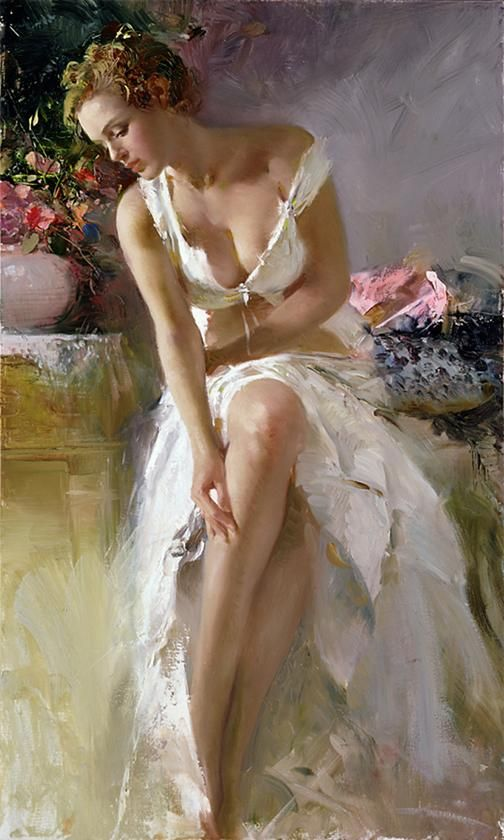 ''Angelica'' by Pino Daeni (Nov 8, 1939 – May 25, 2010), an Italian Impressionist book illustrator  artist.