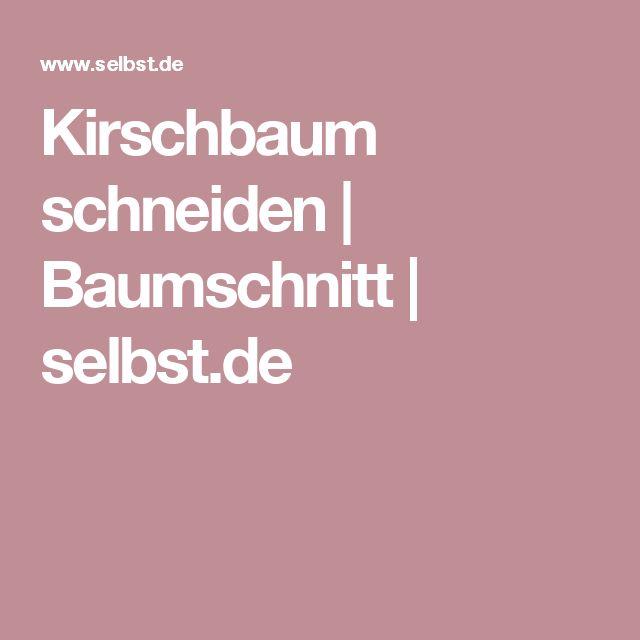 Kirschbaum schneiden | Baumschnitt | selbst.de