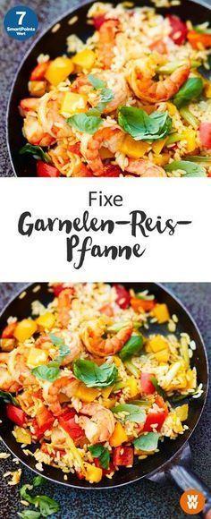 Fixe Garnelen-Reis-Pfanne