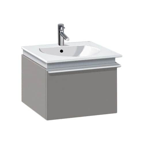 Duravit DN6454 Darling New Vanity 19 5/8 Wall Mount with Single Large Drawer, Less Sink and Faucet for the 049953