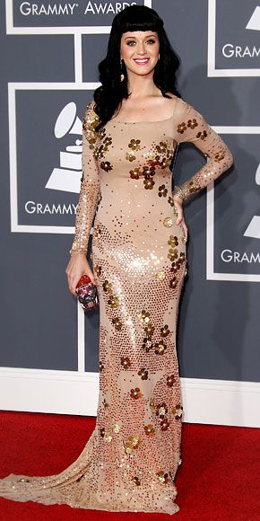 The Top 25 Grammy Looks of All Time - Katy Perry in Zac Posen, 2010 from #InStyle