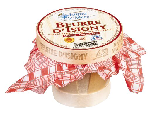 Beurre d'Isigny Butter In A Basket Extra Fin, Unsalted