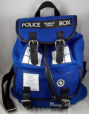 New BBC Dr Doctor Who Tardis Police Call Box Canvas Backpack Slouch Book Bag | eBay $59.55
