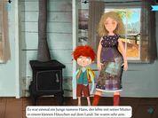 """Hans und die Bohnenranke (Carlsen, nur für iOS)    """"Hans ist arm und ein netter Kerl, hat aber nicht so viel Sinn fürs Praktische. Als seine Mutter ihn bittet, die einzige Kuh zu verkaufen, tauscht er sie auf dem Weg zum Markt gegen ein paar magische Bohnen ein ... Für Kinder ab 6 Jahren"""" (http://www.klick-tipps.net/erwachsene/kinderapps/stiftung-lesen-juni-2015/)."""