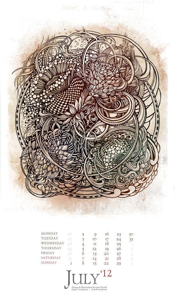 The Eyes of Imagination (Calendar 2012) on Behance
