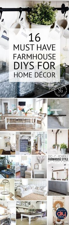 Farmhouse decor can easily be done with DIY home projects check out these great ideas!