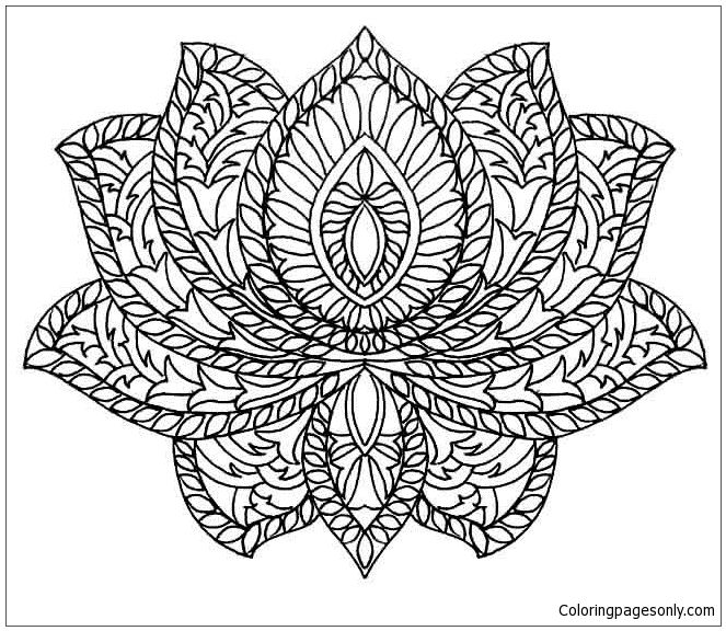 Lotus Mandala Coloring Pages Mandala Coloring Pages Free Printable Coloring Pages Online In 2021 Flower Coloring Pages Animal Coloring Pages Mandala Coloring Pages