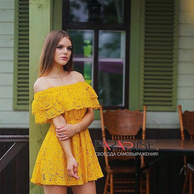 Фоточку вам на ночь☺️ Милое платьице от @paradise.ukg 💛  photo @agarkovdim  Location @domtorzhestv #резиденцияостров