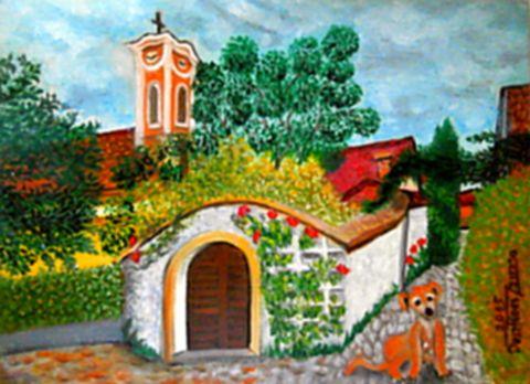 A kapu őrzője (Szentendre) - Zegzugaim olajfestmény