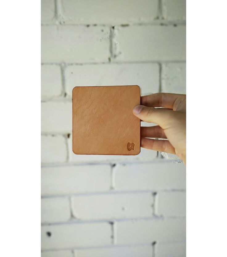 Natural leather coasters.  www.vacatecarry.com