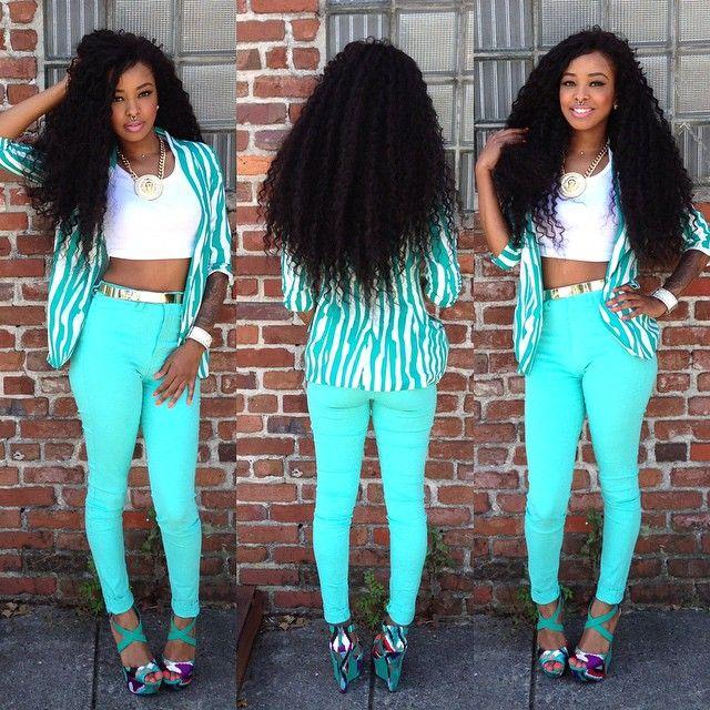 African American Teenage Girls Fashion: @mua_dasena1876 Movie Night 🎥 &qu...Instagram Photo