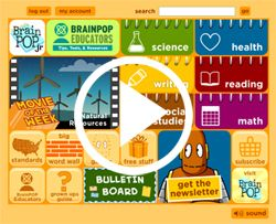 """BrainPOP Jr --really great site: video on """"rights and responsibilities"""" and other topics related to this unit"""