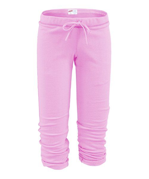 Look at this Soffe   Soft Pink Football Capri Pants on #zulily today!