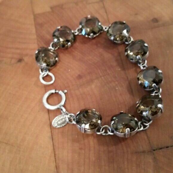 CATHERINE POPESCO Austrian Crystal Bracelet. French Artisan, Catherine Popesco Austrian Crystals. Greenish/Blue Jewelry Bracelets