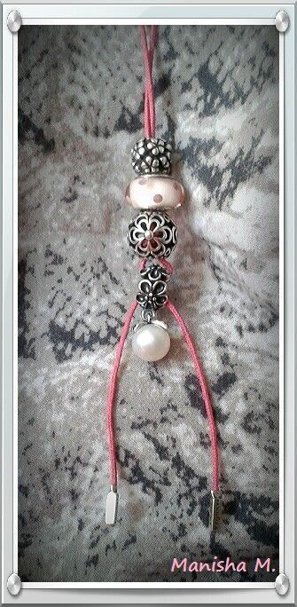 PANDORA Pink Lariat Necklace with Polka Dot Murano and Pearl Garden Odyssey.