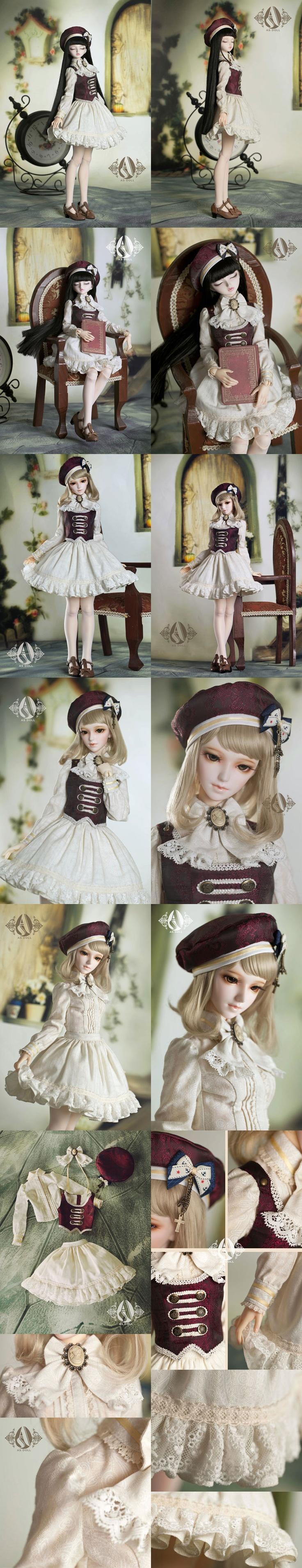 ドール服 SDサイズ人形衣装 海軍服(女) CL3120723_SDサイズ人形用_SDサイズ人形用_人形衣装_球体関節人形、BJD、ドール服、人形ウィッグ、Wig、着せ替え人形、ドール靴、ボディなどを販売するの総合人形通販店