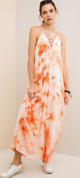 Tied Up Tie-Dye Maxi