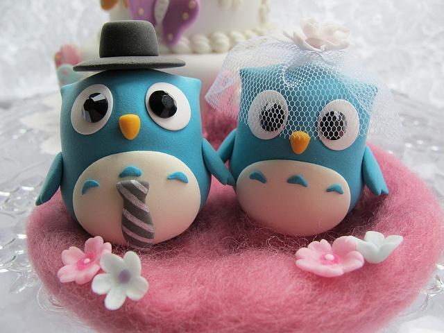 lovely owls cake topper by kikuike, via Flickr