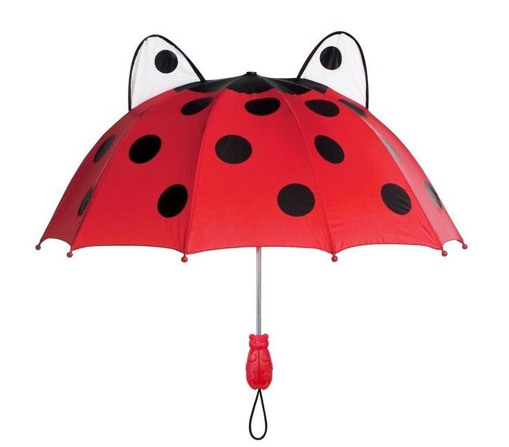 Girls Designer Ladybug Umbrella,Licensed Kidorable Merchandise,Birthday Gifts