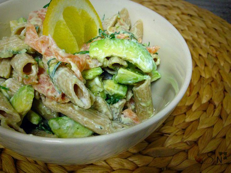 Smoked Salmon and Avocado Pasta Salad