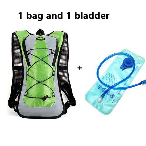 Trinkrucksack mit 2 L-Trinkblase zum Radfahren, Wandern, Laufen, Skifahren, Langlaufen