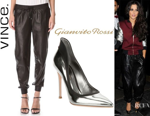 Leather Jogging Pants And Gianvito Rossi Pumps