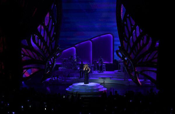 "Mariah Carey Photos - Singer/songwriter Mariah Carey performs during the launch of her residency ""MARIAH #1 TO INFINITY"" at The Colosseum at Caesars Palace on May 6, 2015 in Las Vegas, Nevada. - Mariah Carey Launches 'MARIAH #1 TO INFINITY' At Caesars Palace In Las Vegas"