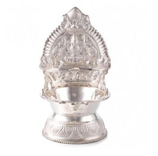 For celebrate your occasion, Buy Online Silver Kamakshi Amman Vilakku at affordable price with exclusive collections.