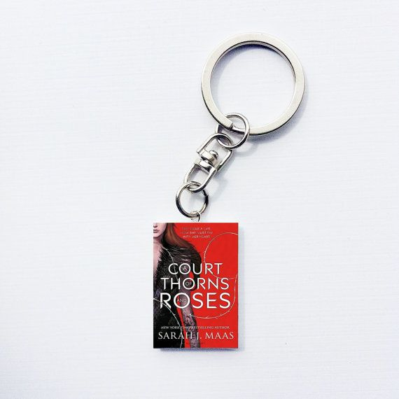 Court of Thorns and Roses keychain. To make sure you always have your favorite book with you. #CourtofThornandRoses #book #keychain #booklover
