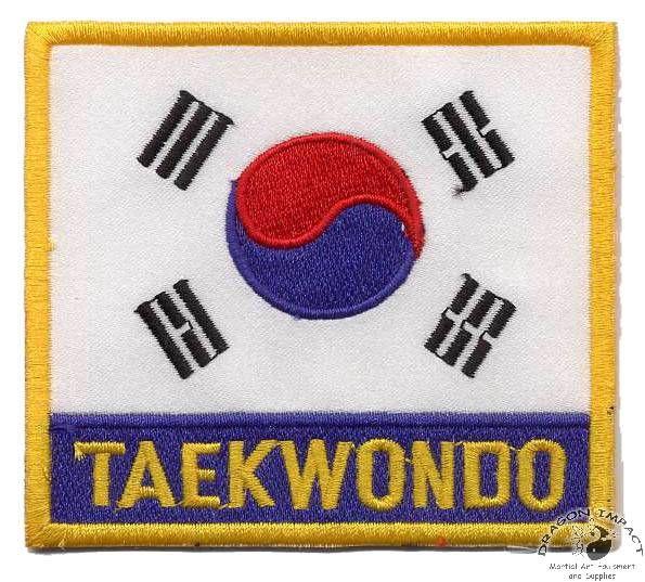 taekwondo quotes   Flag Patch - Korea Tae Kwon Do with Letters