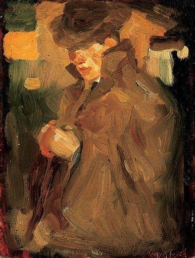 Egry József Kalapos önarckép című képe