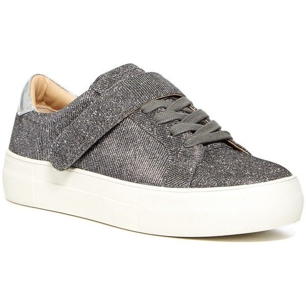 Steve Madden Arri Glitter Platform Sneaker (52 CAD) ❤ liked on Polyvore  featuring shoes