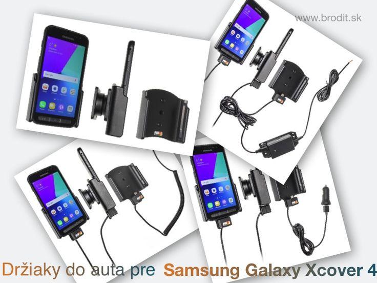 Nové držiaky do auta pre Samsung Galaxy Xcover 4. Pasívny držiak Brodit pre pevnú montáž v aute, aktívny s CL nabíjačkou, s USB alebo s Molex konektorom.