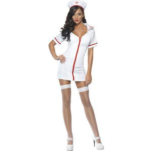 Fever Sexy Nurse Costume With Dress And Hat Womens Medium
