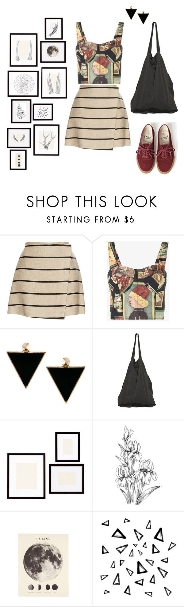"""Let's head to the art exhibitions!"" by entipuf ❤ liked on Polyvore featuring MSGM, Simon Miller, ASOS, Vans, Laneus, Pottery Barn and Nika"