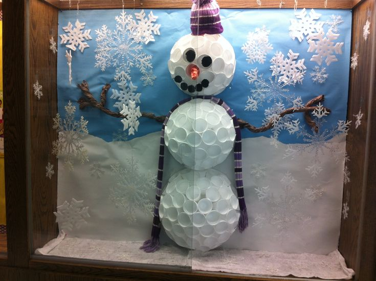 Orem Elementary Pta Display For January Let It Snow