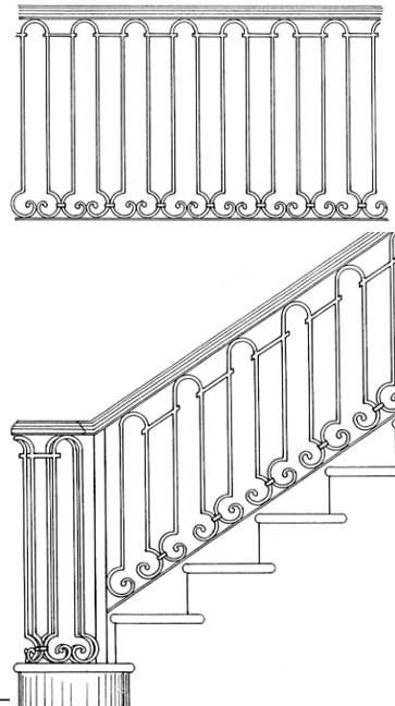 stair railing designs isr030