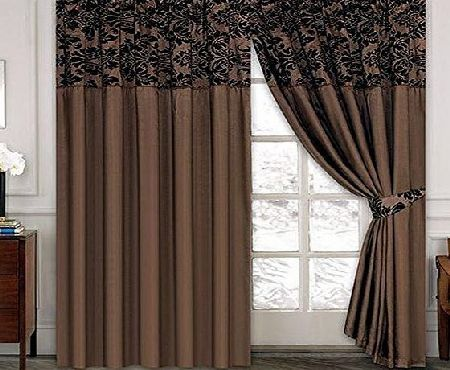 17 best ideas about brown pencil pleat curtains on for Living room curtains 90x90