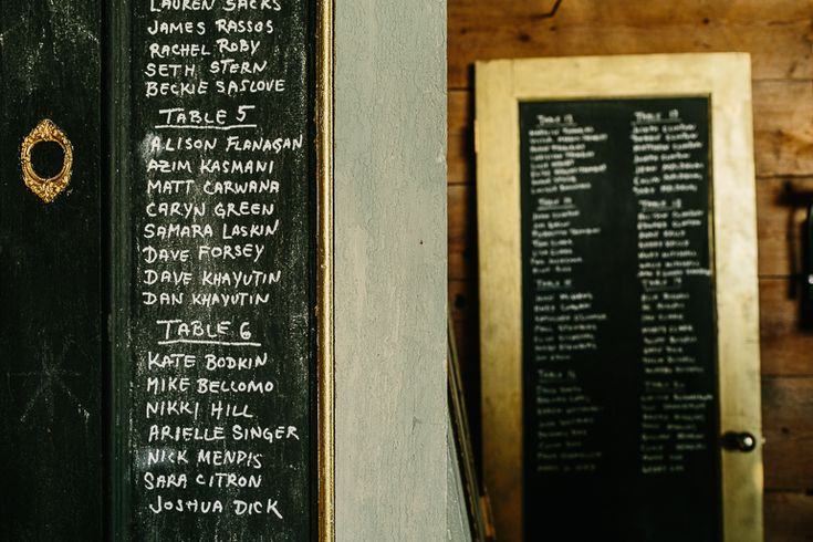 One of Canada's Most Unique Wedding Venues - Cambium Farms | A Brit & A Blonde. Unique idea for wedding seating chart - vintage doors with chalk. http://abritandablonde.com/2014/02/06/blog/magical-barn-wedding-at-cambium-farms/
