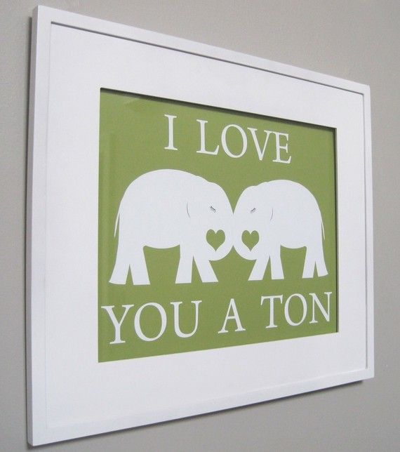 OMG!! I should so make one of these for Will only make the elephants blue and letters blue and the background white!!