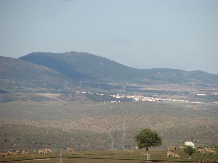 Panorámica de Cañaveral obtenida desde la vecina Garrovillas de Alconétar.
