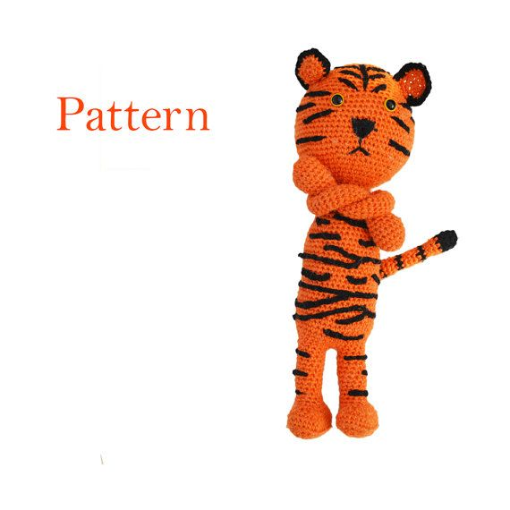 Tiger Amigurumi Crochet Pattern  Cute DIY softie by roamingpixies