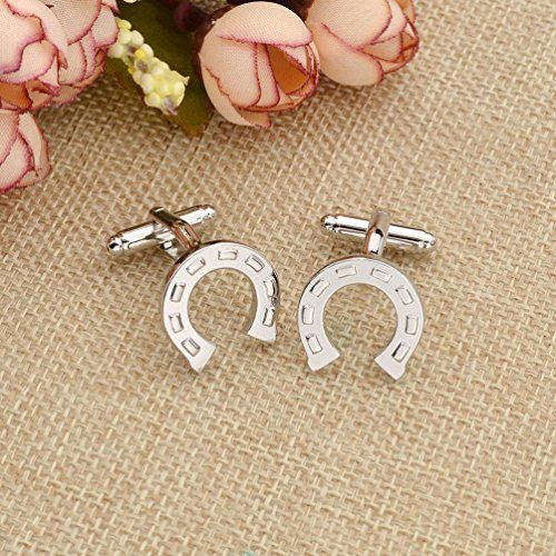 Amazon.com: Horse Shoe Design Cuff Links Silver Plated Shirt Cufflinks Wedding Collection Gfit 1 Pair: Jewelry