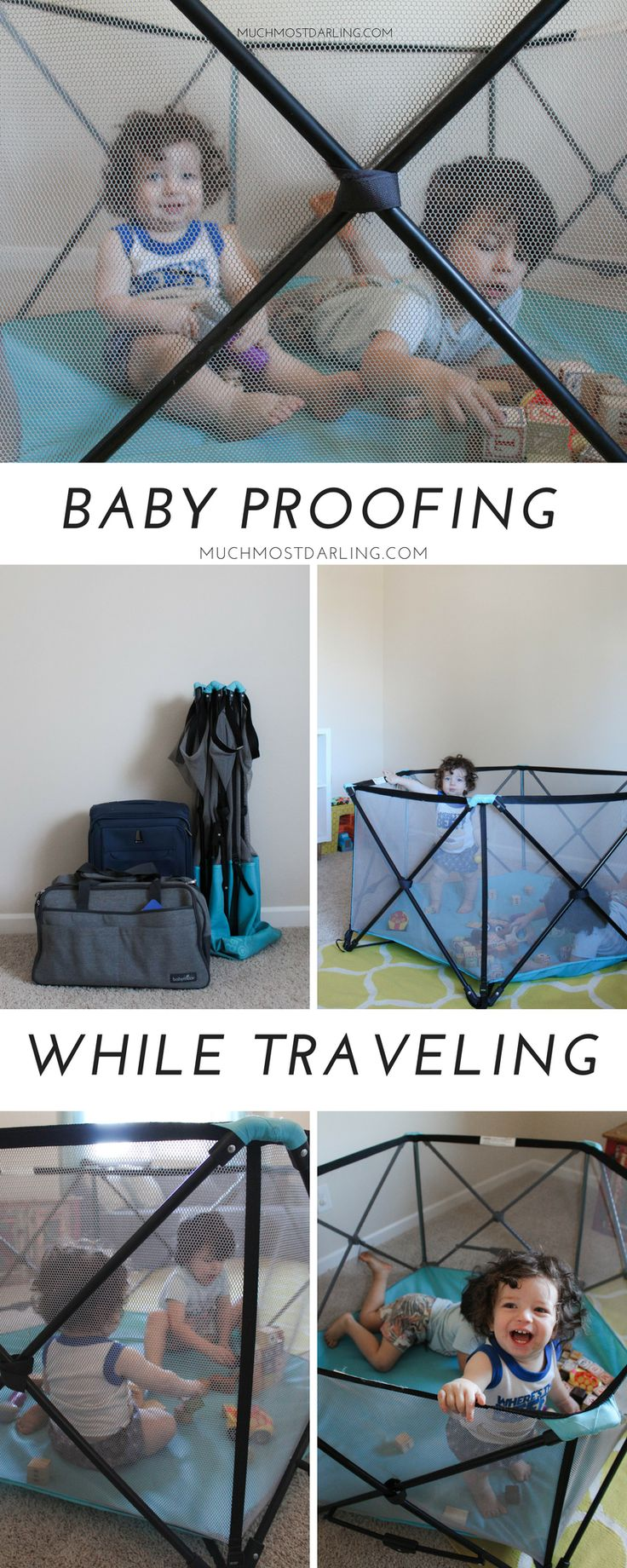 Our family practically lives on the road. Come learn how we baby proof while traveling and on the go with our Regalo My Play Portable Play Yard!
