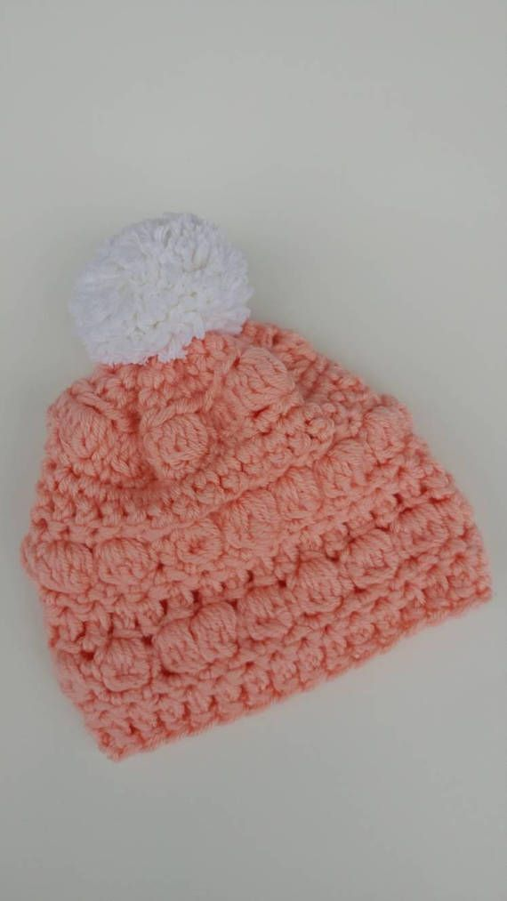 Check out this item in my Etsy shop https://www.etsy.com/ca/listing/596213167/bobble-knit-baby-beanie-pompomtoddlers